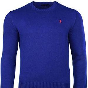 Polo Ralph Lauren Cotton Crew-neck Sweater Blue